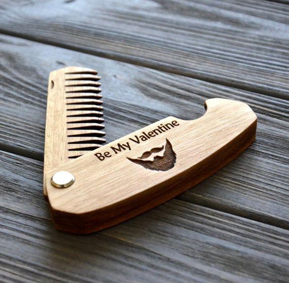 Valentines Day Folding comb Be my Valentine - Enjoythewood - Grzebienie