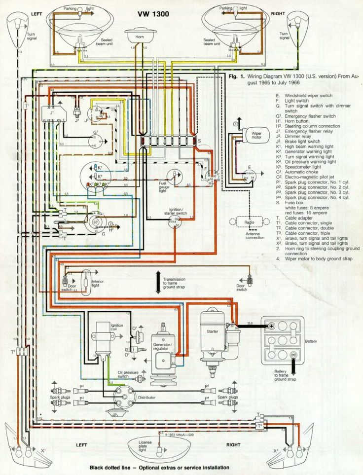 Thesamba Com Type 1 Wiring Diagrams With 1969 Vw Beetle