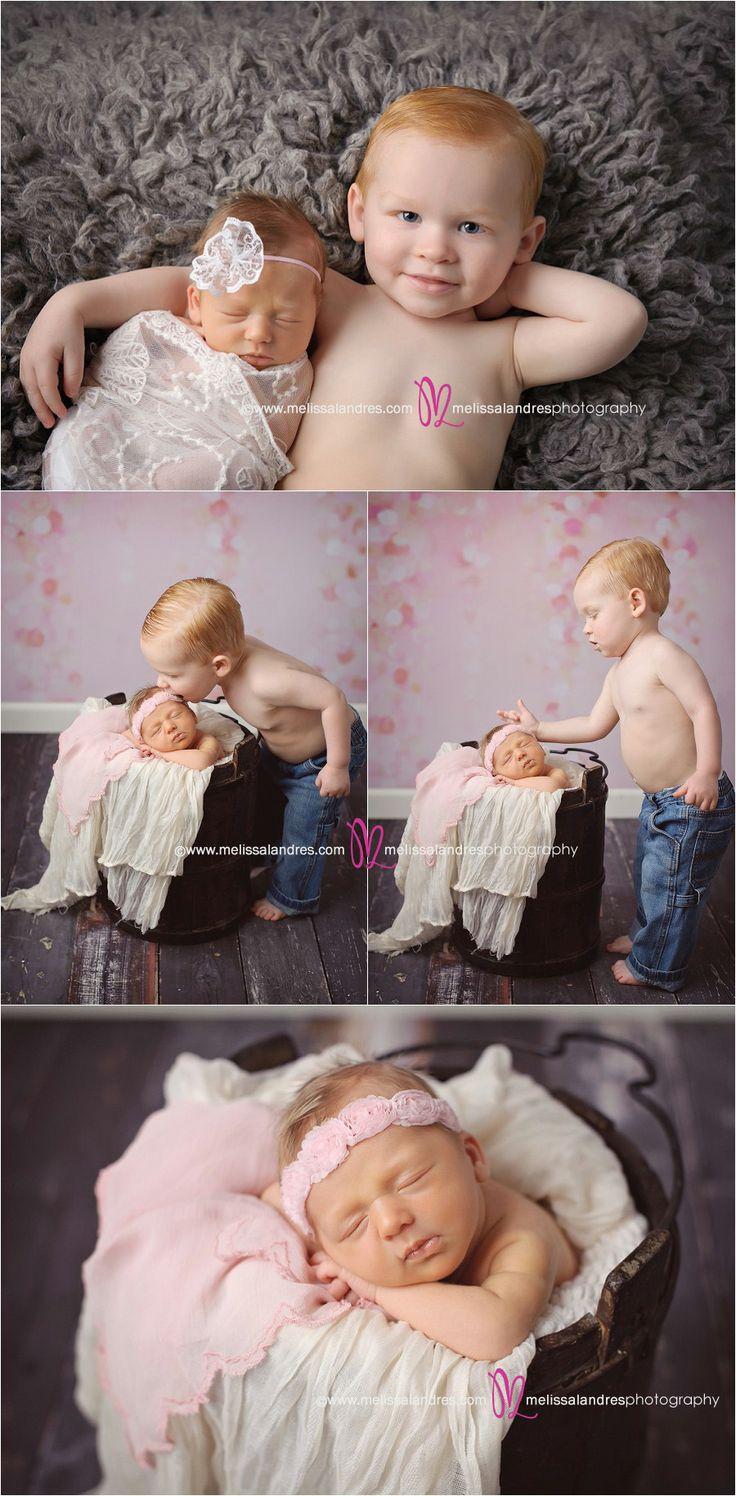 "Too cute! ""Big"" brother & little sister ♥ Melissa Landres | © www.melissalandres.com #PalmDesertBabyPhotographer"