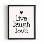 "Poster ""Live Laugh Love"""