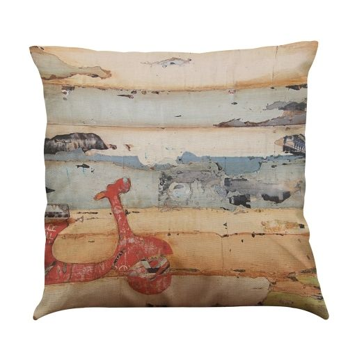 (4.62$)  Watch here  - Cartoon Animated Romantic Modern Fashionable Cute Colorful FAW Volkswagen Mini Motorbike Bus Truck Roadster bicycle Recreational Vehicle Caravan Sea Sunshine Designs Patterns Oil Painting Printed Square Cushion Pillowcases Throw Pillow Covers Decorative Gifts for  Children Playroom Bedroom Office Car Seat