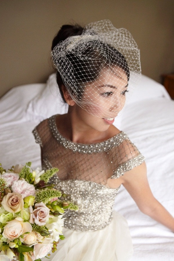 a classic Birdcage veil looks gorgeous with this http://collettedinnigan.com/ dress  Photography by http://milkandhoney.com.au/