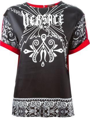 Versace logo T-shirt - Shop for women's T-shirt - BLACK T-shirt