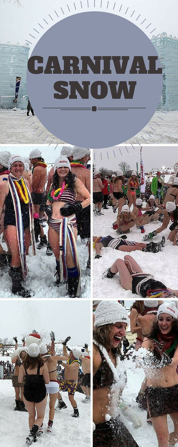 This is the scene at the Quebec Winter Carnival in Quebec, Canada.