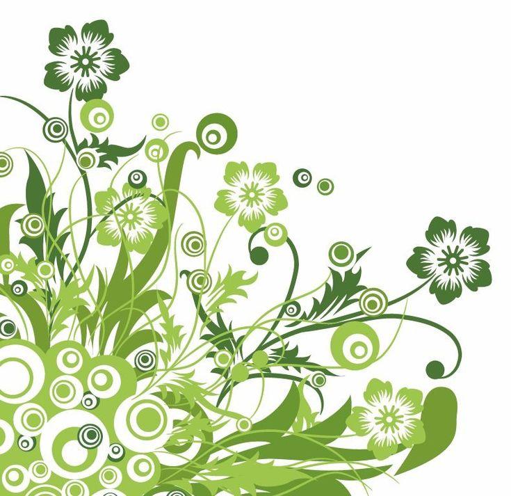 flower designs | Name: Green Floral Design Vector Graphic