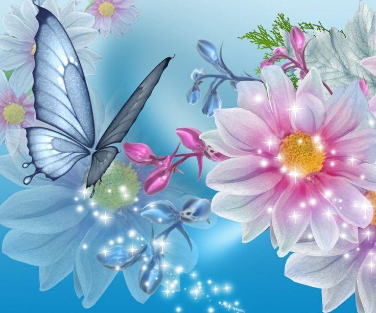 Fluture si floare