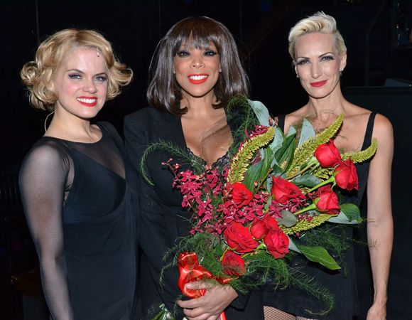 Amy Spanger, Wendy Williams, and Amra-Faye Wright backstage at Chicago on Williams' official opening night.
