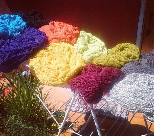 Lana Cruda, y mi variedad de colores!!!