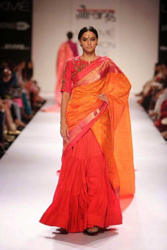 gaurang lakme fashion week a/w 2014 designer lehnga