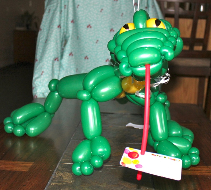 how to make a dinosaur out of balloons