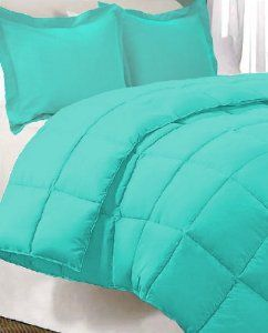 Amazon.com: Teal Premium XL Twin Dorm Comforter Set, Twin Extra Long: Home & Kitchen