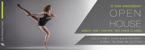 12 year anniversary City Dance Corps Open House June 1