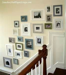 Wonderful Photo Wall Collage Layout #6 - Stair Wall Picture Frame Ideas