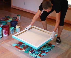 MONO PRINTING with leftover household paint Diy Καταπληκτική σύγχρονη τέχνη από περίσσευματα χρωμάτων7