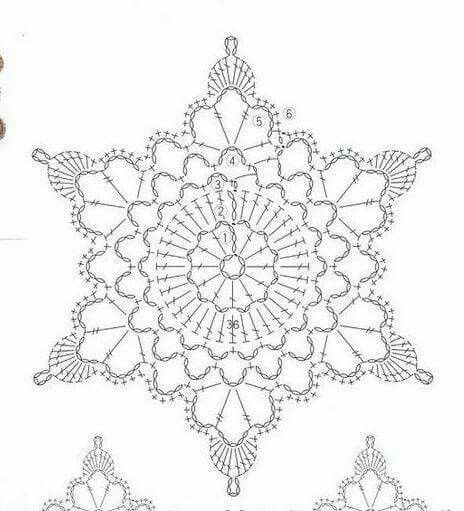 590 best crochet snowflakes images on pinterest