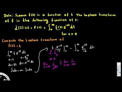 Laplace Transform - Calculating the Laplace Transform -  Differential Eq...