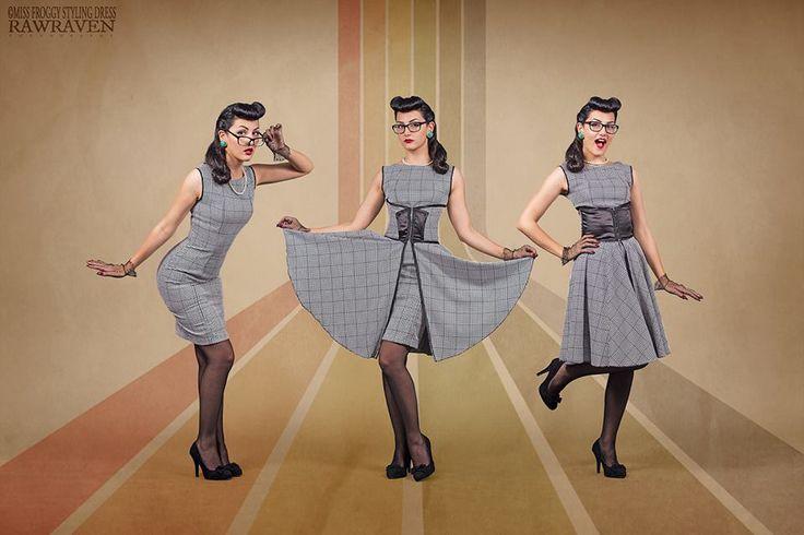 tailored garment unique dress vintage tailoring #grey #50's #vintage #sewing #yourstylist #fashion #modellist