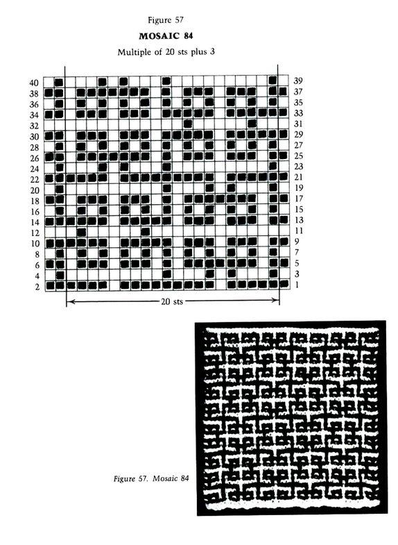 Mosaic Knitting Barbara G. Walker (Lenivii gakkard)
