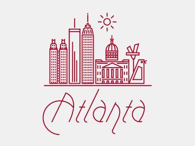 Graphic of Atlanta (including the Big Chicken)