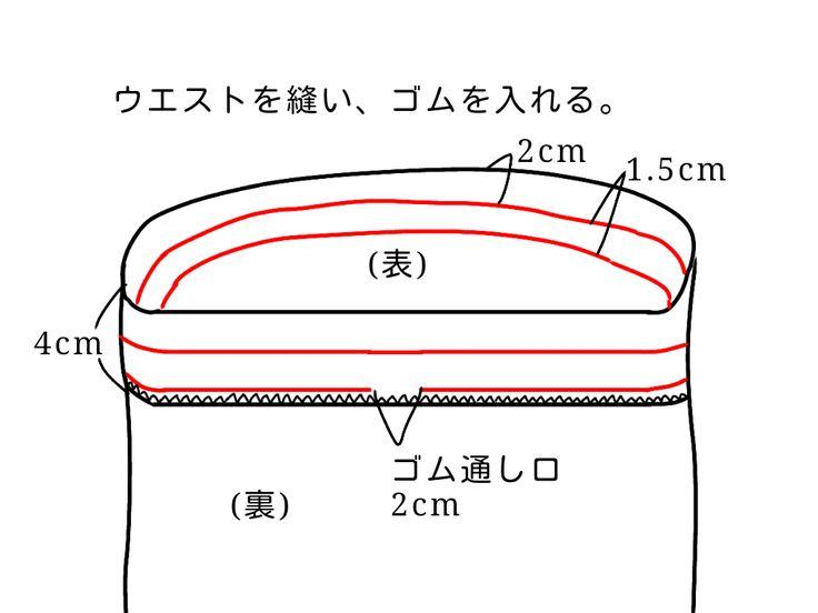 ウエストゴムのギャザースカートの無料型紙と作り方です。 直線なので切るのも縫うのも簡単です。 1日で完成できると思います。 サイズ 身長160cm前後で膝下丈になります。丈を調整するときは、お好みの丈+8cm(縫い代)で裁断してください。 ※長めの...