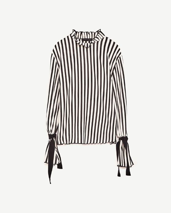 Image 8 of STRIPED T-SHIRT WITH BACK STRAPS from Zara