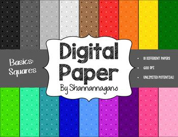 There are 18 different digital papers that can be used for a to create items for your classroom or TpT store! You can use them for to create backgrounds for printable posters; as a background for a PowerPoint, Word Doc, etc.; to create marketing materials; or