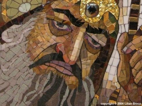 mosaic portrait by Lilian Broca