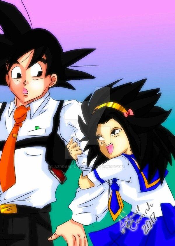 Goku And Caulifla  Todo Tipo De Anime  Dbz Fondos De -7492
