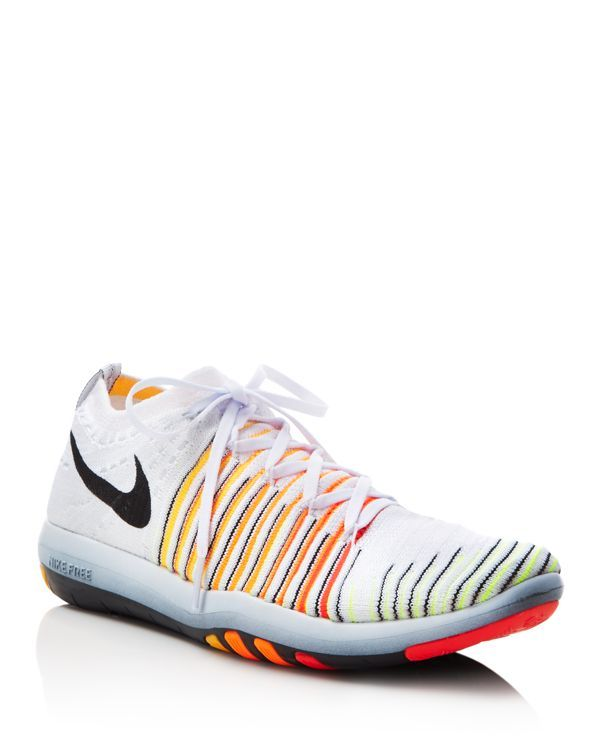 Specially designed for a sock-like fit, the Nike Free Transform Flyknit sneakers deliver durable structure and support in a one-layer construction. Unique, tri-star grooved outsoles expand and contrac