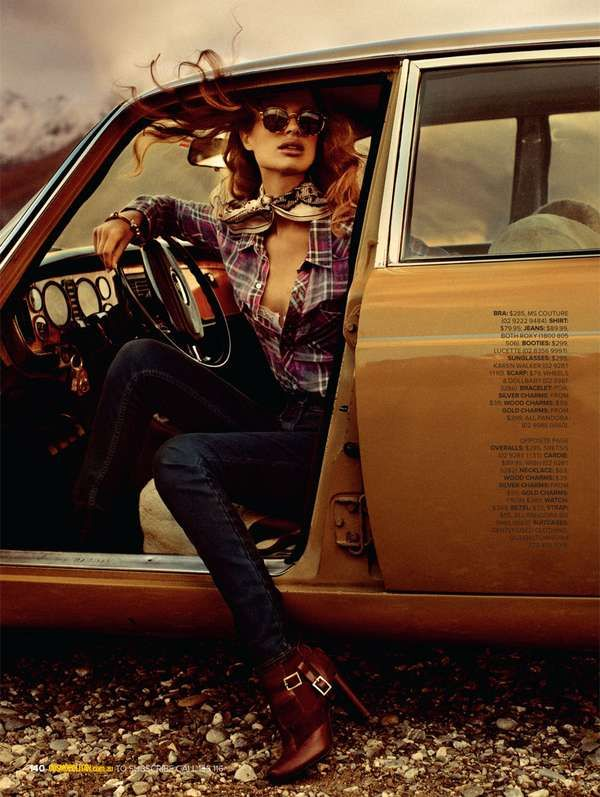 70s Road Trip Editorials - The Cosmopolitan Australia 'I'll Take You There' Photoshoot is Retro (GALLERY)