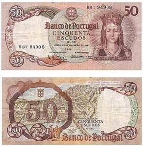 50 escudos Raínha Santa Isabel