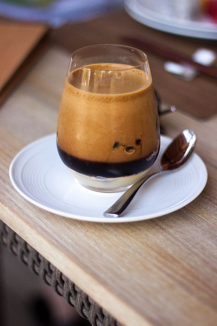 Vietnamese Coffee: iced coffee with condensed milk and cinnamon