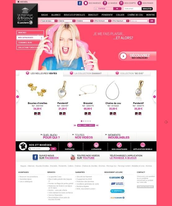 Refonte graphique de la boutique en ligne http://www.lemanegeabijoux.com