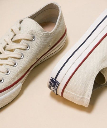 Off white Converse Chuck Taylor All Star low-tops. #sneakers #classic