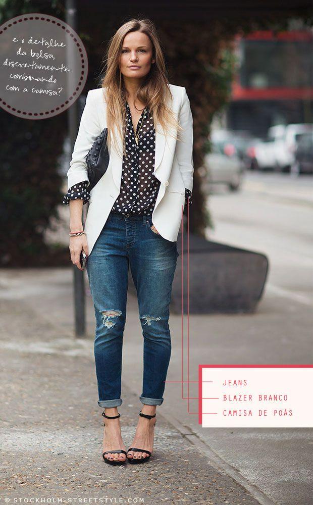 look-blazer-branco-camisa-de-poas-jeans
