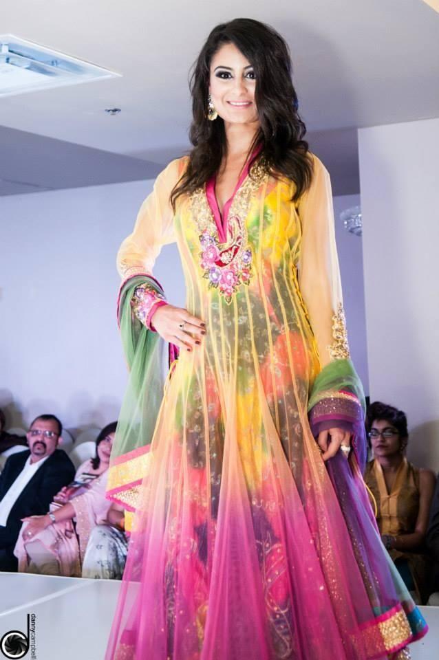 Colorful #Desi #Anarkali by http://www.SilkThreads.com/ # ...