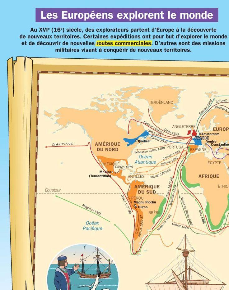 Fiche exposés : Les Européens explorent le monde
