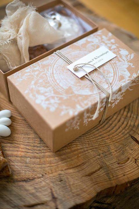 Carton Box With Traditional Greek Wedding Almond Sweets! #deplanv #Greek #tradition #wedding #almond #sweets #customised #box #print #destination #weddings #Greek http://www.deplanv.com