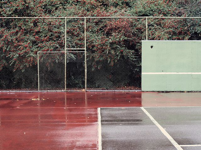tennis player best and worst fear. A wet court