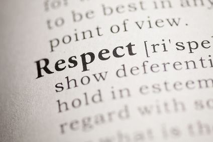 Respect may be earned, but should also be a given, but lack of respect starts with a lack of self-respect.