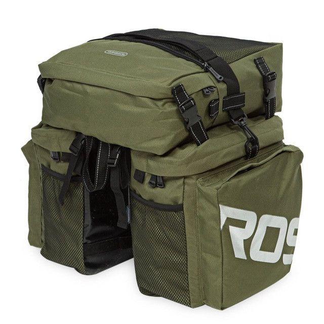 Roswheel 37L Polyester Waterproof Bicycle bag 3 in 1 Rear Rack Bag