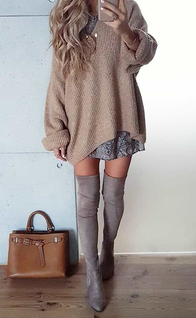 meilleure tenue d'automne avec un pull oversize pour tout le monde – #avec #daut…