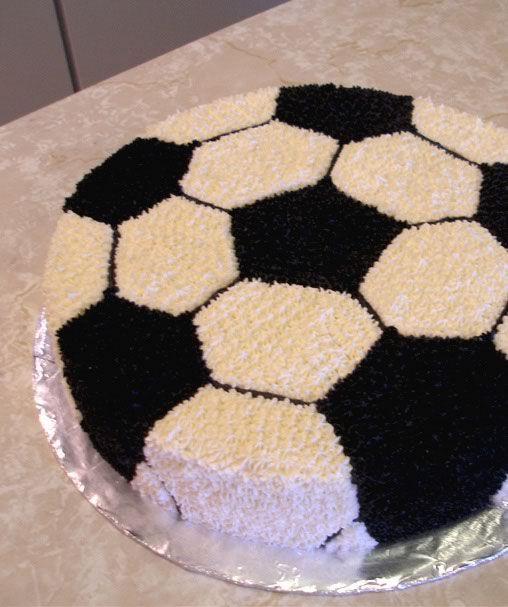 Soccer Cake cakepins.com