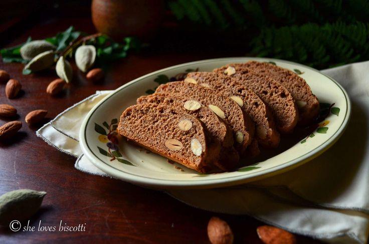 Simple Classic Italian Honey Almond Cocoa Biscotti