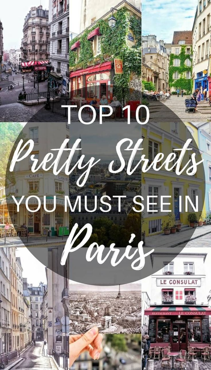 Paris is always a great travel destination. Pretty streets you must see in Paris