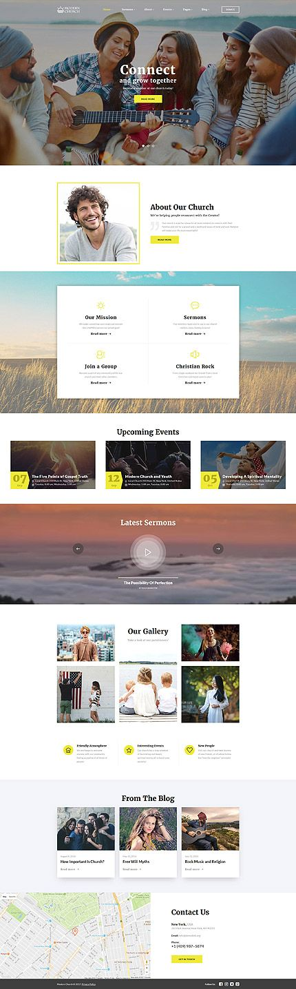 Template 61214 - Christian Icon  Responsive Website Template