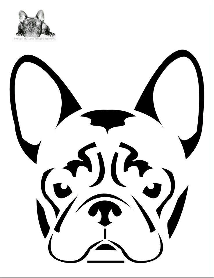 bulldog cricut french svg dog stencil pumpkin silhouette stencils