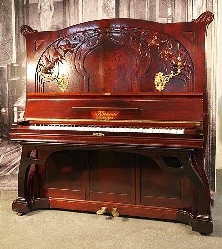 Art Nouveau - Piano droit - Knauss - 1912