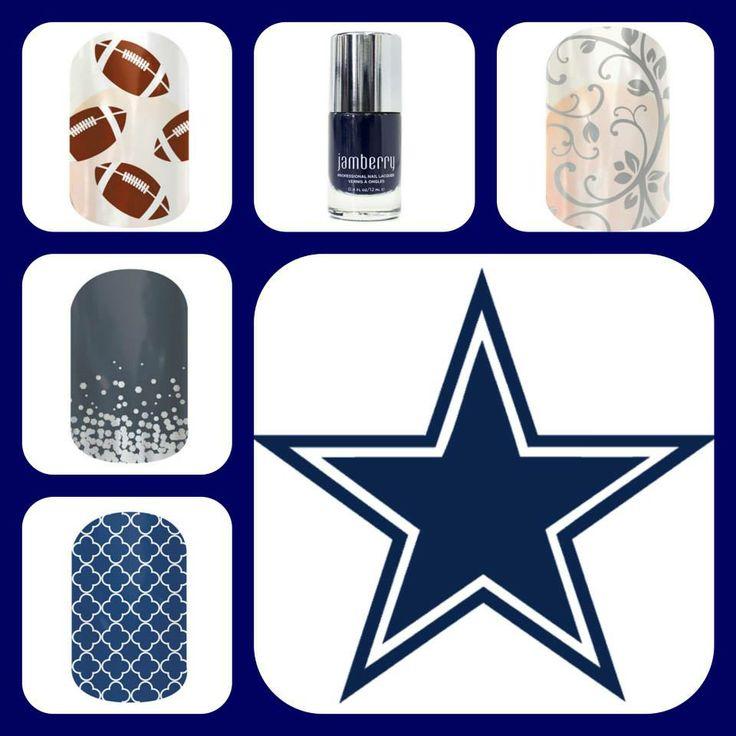 Dallas Cowboys Jamberry nail ideas. jenniferjubilation.jamberrynails.net www.facebook.com/jenniferjubilation