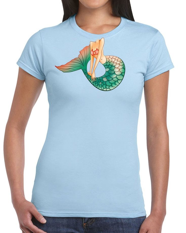Awesome Tshirts - Little Mermaid T-Shirt - Ladies Light Blue T-shirt - $35